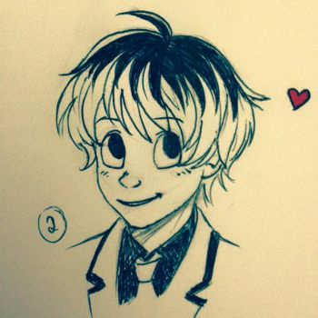 Cartoonish Haise by mazoku-chan