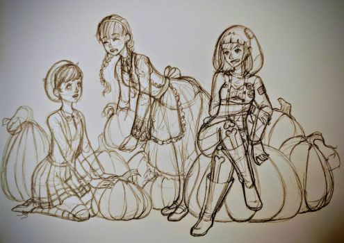 Pumpkin Maidens!!! by GossArt1323