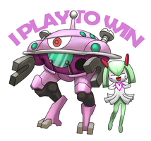 D.va, kirlia and Magnezone mech