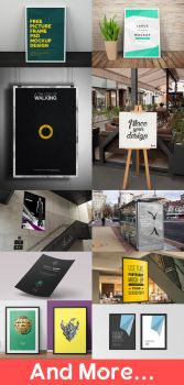Free PSD Poster/Flyer Mockups by Fusionrohan
