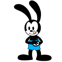 Oswald making a snowball by MarcosPower1996