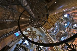 St. Mary of Mount Berico - Spiral staircase color by ExaVolt