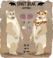 Spirit Bear Adoptable Auction - CLOSED by RussianBlues