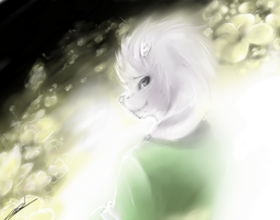 Asriel  - it's me, your best friend. by AstreaPink