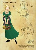 Justine character page by thenumber42