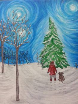 holiday painting by smunk1