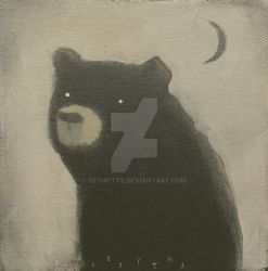 Black Bear with Crescent by SethFitts