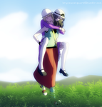 AAtatat carrying AAABBHM by WaffleFoxAlpha
