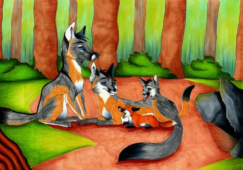Fox Family Adoption by Figofox by BurtanTae