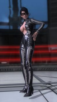 Momiji Secret Agent Black 003 by DOA5lrScreenShots