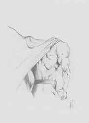 Sketch 2 - Superman Body by YOLOR