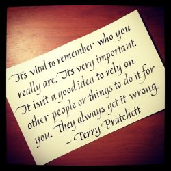 Instagram - Terry Pratchett - Who You Really Are by MShades