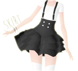 mmd dl - suspender skirt remake by NoUsernameIncluded