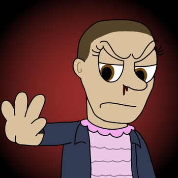 Stranger Things - Eleven Icon (F2U) by Jeremy-the-Blockhead