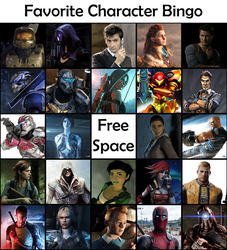 Favourite Character Bingo by Archangel470
