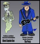 The Press and Ghost Capt. Dan by Lordwormm