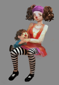 Clown from the big comfy couch by milkybee