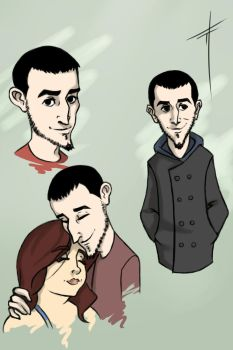 40 (comic style caricature of friend) by Vailer