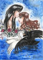 Camus and Swan Maiden III by GoddessRhiannon13