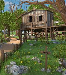 Wood Mountain House by MarcMons007