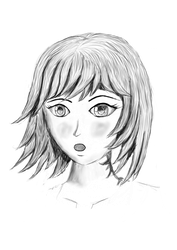 Manga Female - grey-some emotion by dsonck92