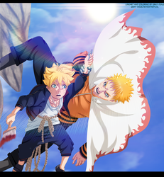 Naruto 700 - Bolt and Naruto by Gray-Dous