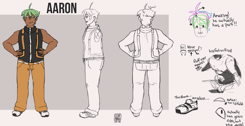 Aaron reference sheet by J-Ecstas