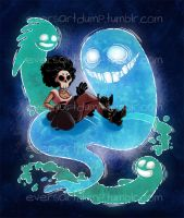 Skully and Ghosts by Caden13