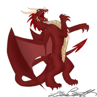 Red dragon- 100TC No. 86 by Lucieniibi