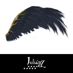 Wings dark golden ornament by Julianez