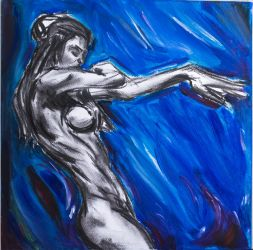 Nude on blue by Dairanhill
