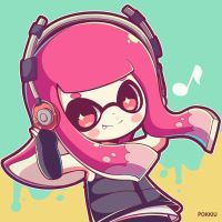 Splatoon commission 10 by Pokkiu