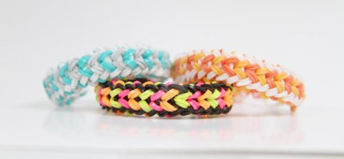 Mini Double Braid Rainbow Loom Bracelet by MissTopaz