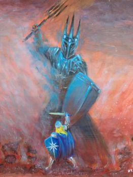 The fall of Fingolfin by DrizztHunter