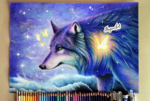 Galaxy wolf  Guardian of the Galaxy by Bajan-Art