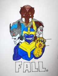 Thanos and The Black Order by streak663