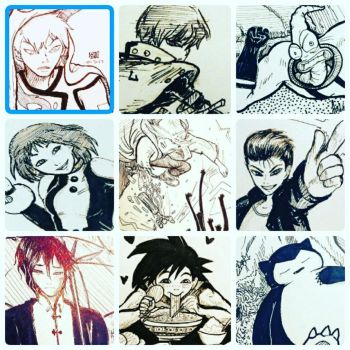 INKTOBER COMPILATION 2017 3/5 by peore