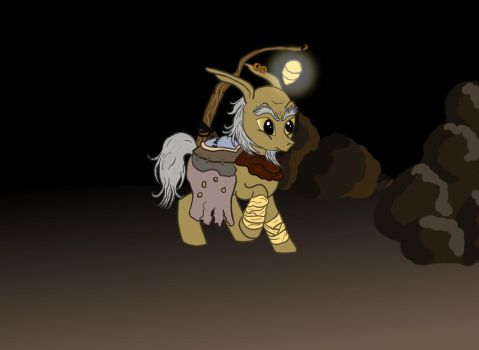 My Little Gnarl Pony (from the game Overlord) by Tchoucky