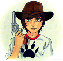 .carl grimes. by zombees