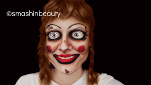 The Conjuring Annabelle Doll Halloween Makeup  by smashinbeauty