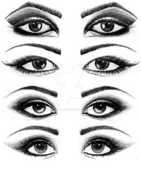 Eyes Drawings. by Psychosomatic-Psyche