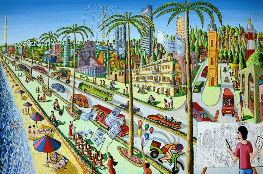 naive paintings art raphael perez israeli painting by shharc