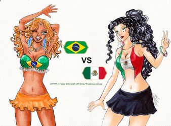 Brazil VS Mexico by ShahanaMikagi