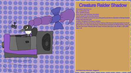 Creature Raider Shadow by DrumboProductions