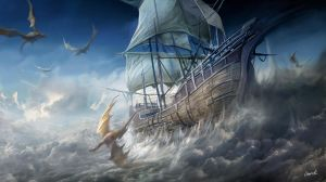 Flying ship by derrickSong