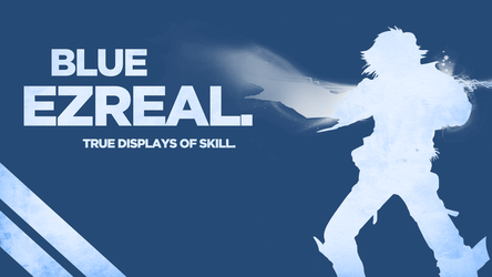 Blue Ezreal Wallpaper by Welterz