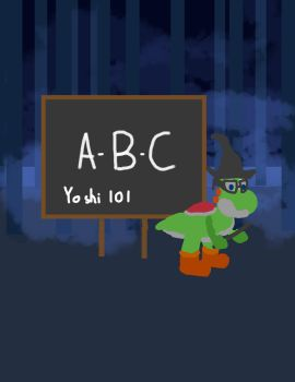 Yoshi in the Forbidden Forest teaching in a class by Draconet