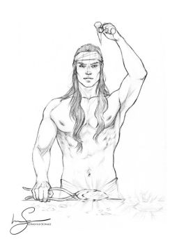 Feanor forging the silmarils :: sketch by IngvildSchageArt