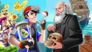 ERB: Ash Ketchum Vs Charles Darwin fan art by SemajZ