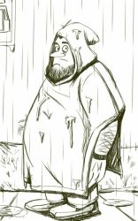 Daily Sketch: Prepared for Downpour by Hunchy